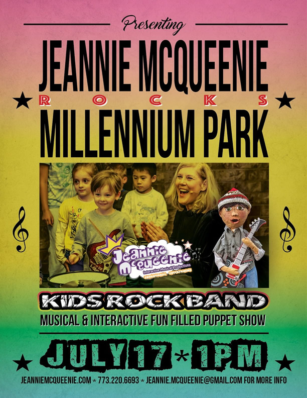 Jeannie McQueenie's Kids Rock Band at Millenium Park